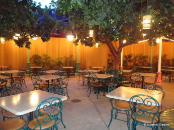 Outdoor Seating near Paradise Garden Grill