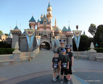 Our Family Photo with an Empty Castle!