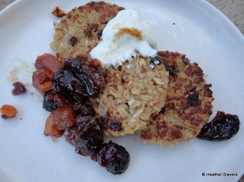 Grilled Cinnamon Spiced Oatmeal Cakes