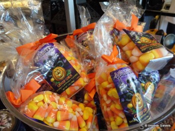 Bags of Candy Corn & Bags of Butter Scented Candy Corn Gummies (Yuck!)