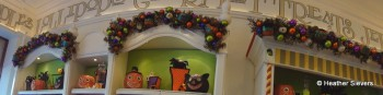 Every top shelf in Marceline's is Decorated Seasonally