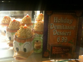 Caramel Apple Cupcake in a Souvenir Donald Ceramic Mug