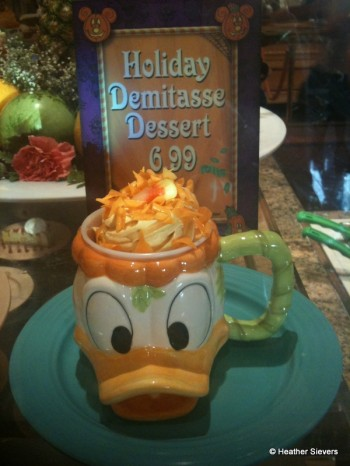Nutty Caramel Apple MUFFIN topped with Pumpkin Mousse