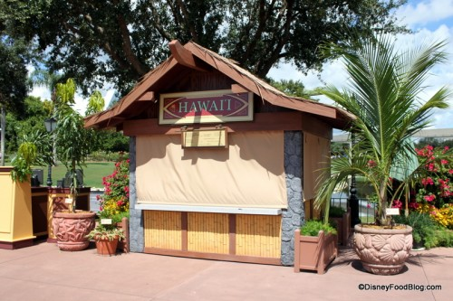 Hawaii Booth at the Epcot International Food and Wine Festival