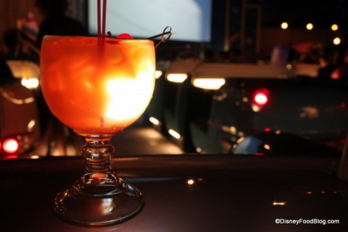 Lunar Landing Glow Drink at Sci-Fi Dine-In Restaurant