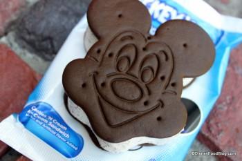 Mickey Cookies and Cream Ice Cream Sandwich