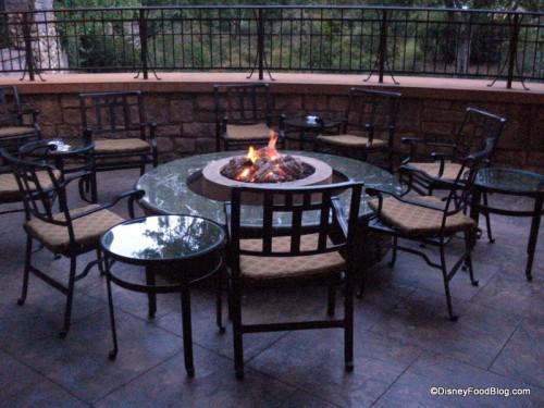 I Love the Napa Rose Outdoor Lounge Area