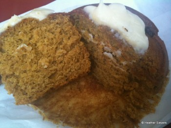 Pumpkin Muffin Cross Section
