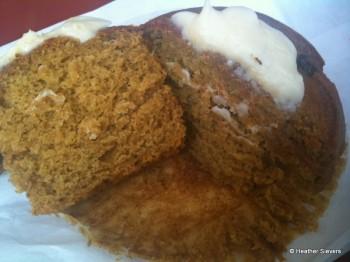 Pumpkin Muffin Cross Section