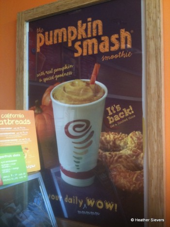 Pumpkin Smash Smoothie Signage