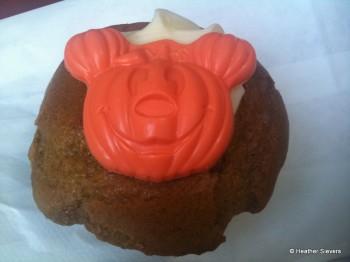 Orange Colored Chocolate Mickey Pumpkin Detail