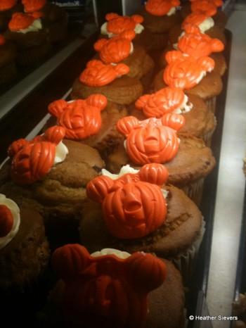 Rows of Pumpkin Muffins