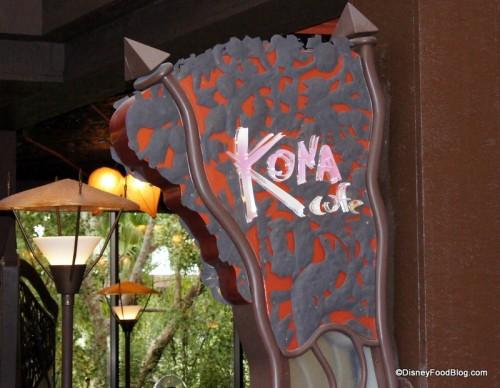 Kona Cafe sign