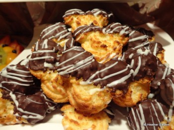 Chocolate Dipped Mickey Macaroons