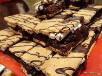 Chocolate Dipped Brownie Smores
