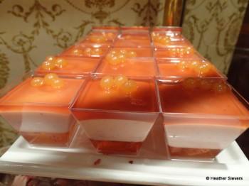 Orange Gelatin Mousse Cups