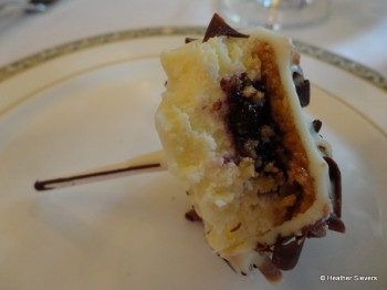 Blueberry Cheesecake Pop Cross Section