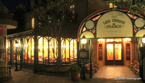 Front of Les Chefs de France at Night -- Isn't It Amazing??