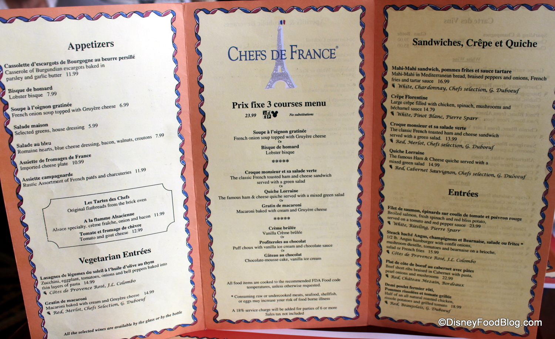 menu | the disney food blog