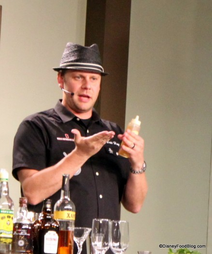 Presenter During a Mixology Seminar