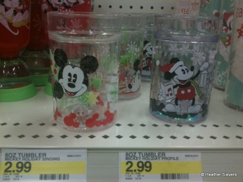 8 oz Tumblers with Floating Sparkles and Mickey Heads