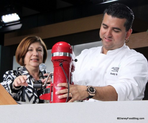 Buddy Valastro mixing it up at the Epcot Food and Wine Festival