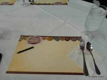 Scent Demonstration Table Setting