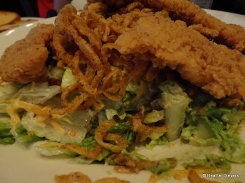 Chicken Tender Salad Close Up