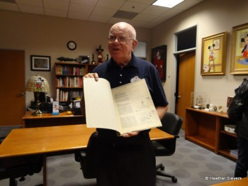 Disney Archivist, Dave Smith, shows us the original Steamboat Wille Script