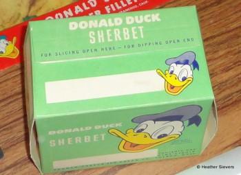 Donald Duck Sherbet Close Up
