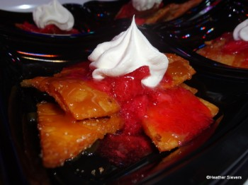 Dulce de Leche Dessert Nachos Close Up