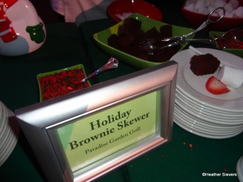 Holiday Brownie Skewers from Paradise Garden Grill
