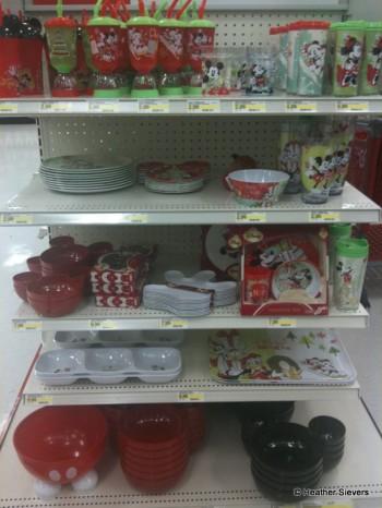 Holiday Mickey & Friends Kitchenware Display at Target