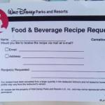 Dining in Disneyland: New Recipe Request Forms Pop Up in Disneyland