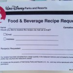 Dining in Disneyland: New Recipe Request Forms Pop Up in Disneyland