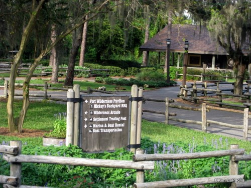 Fort Wilderness Pavilion Sign