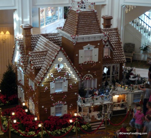 Looking Down on the Grand Floridian Gingerbread House