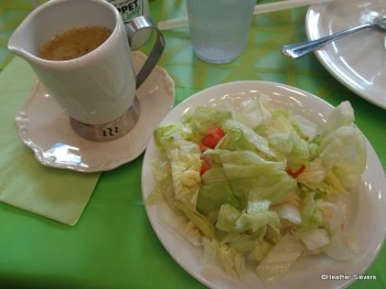 Green Salad with Italian Dressing