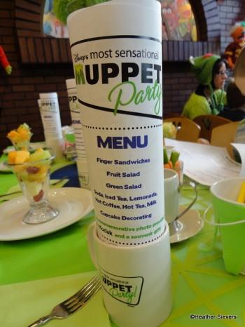 Our menus were placed in souvenier mugs, cute idea!
