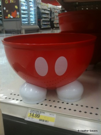 Footed Mickey Popcorn Bowl