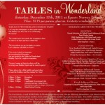 Tables in Wonderland: December 2011 Special Events