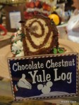 Yule Log Display Cake
