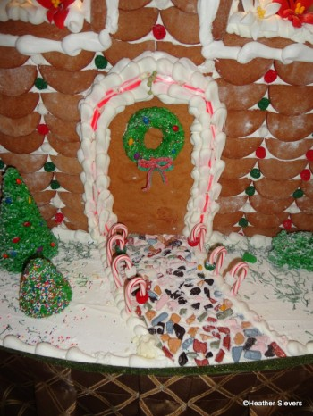 Candy Rock Pathway Lined with Mini Candy Canes
