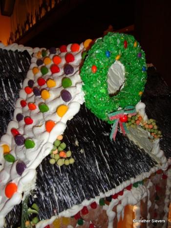 Rice Crispy Wreath with Chocolate Covered Rainbow Sunflower Seeds