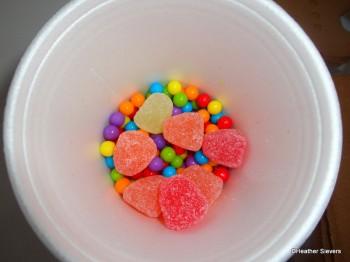 Mini Jawbreakers & Gum Drops Close Up