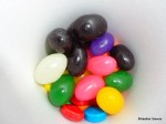 Jelly Beans & Colored Disc Candies Close Up
