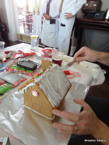 Frosting the 2nd Half of the Roof