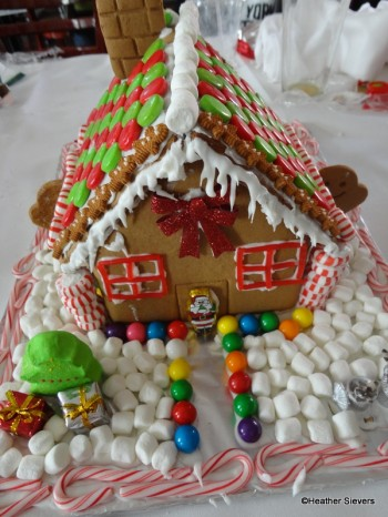 Our Finished Gingerbread House: Front Yard