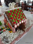 Our Finished Gingerbread House: Side Yard