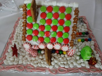 Our Finished Gingerbread House: Side Yard 2